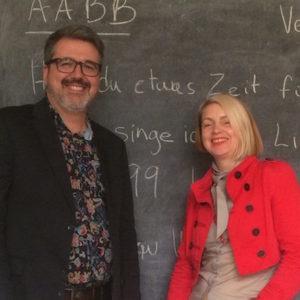 James Trottier and Samantha Wareing are workshop leaders at Kreative Workshop Berlin